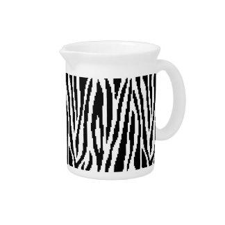 8 Bit Pixel Zebra Print Design Pattern Pitcher