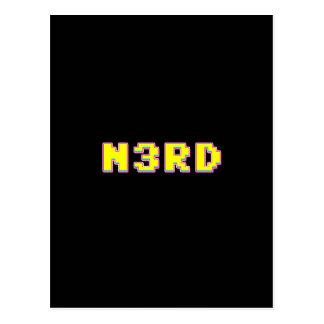 8 Bit Pixelated Nerd Postcard