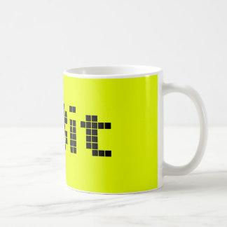 8 Bit Pixelated Yellow/Black Coffee Mugs