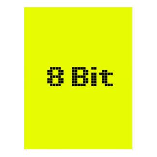 8 Bit Pixelated Yellow/Black Postcard