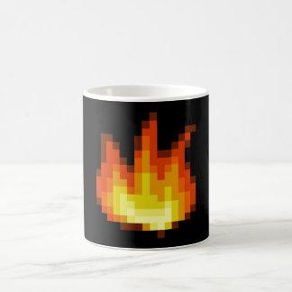 8 Bit Pixeled Fire Mugs