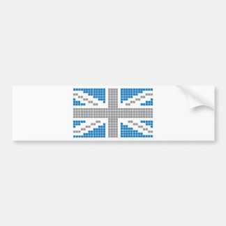 8-bit Pixels Union Jack British UK Flag Bumper Stickers