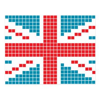 8-bit Pixels Union Jack British(UK) Flag Post Cards