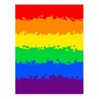 8 Bit Pride Flag Postcard