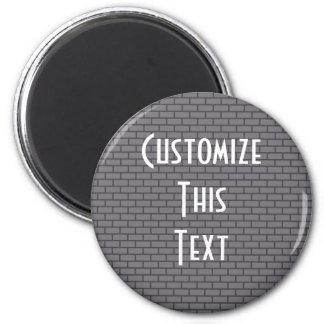 8-Bit Retro Brick, Grey Refrigerator Magnets