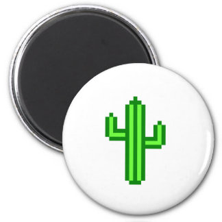 8-bit Saguaro Cactus Refrigerator Magnet