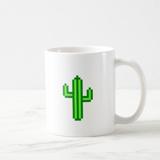 8-bit Saguaro Cactus Mugs