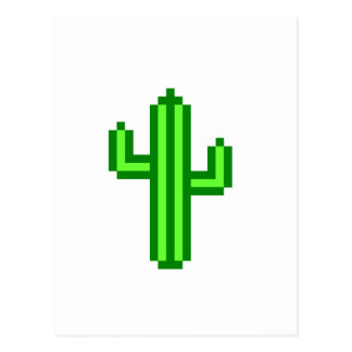 8-bit Saguaro Cactus Postcard