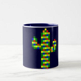 8-bit Saguaro Christmas Lights Mug