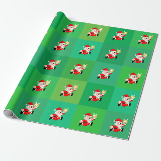 8-Bit Santa Claus Christmas Wrapping Paper