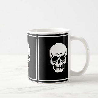 8-Bit Skull Pixel Art Mug