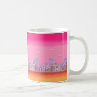 8-bit Skyline Basic White Mug