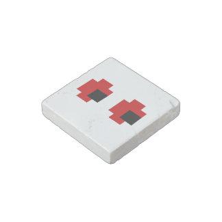 8 Bit Spooky Red Eyes Stone Magnet