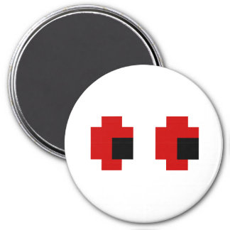 8 Bit Spooky Red Eyes Fridge Magnet