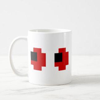 8 Bit Spooky Red Eyes Coffee Mug