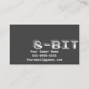 8 bit business cards business card printing zazzle uk 8 bit video game gamer business cards reheart Image collections