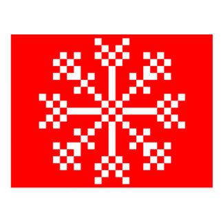 8 bit Video Game Snowflake Postcard