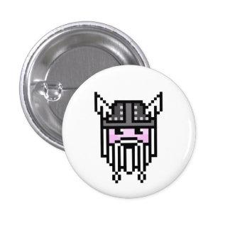8 Bit Viking 3 Cm Round Badge