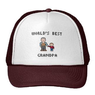 8 Bit World's Best Grandpa Hat