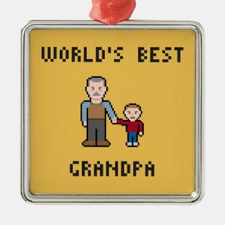8 Bit World's Best Grandpa Ornament