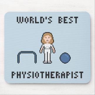 8 Bit World's Best Physiotherapist Mousepad