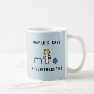 8 Bit World's Best Physiotherapist Mug
