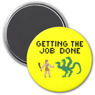 8 Bits Hercules - Button 7.5 Cm Round Magnet