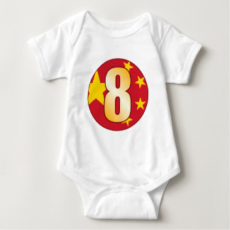 8 CHINA Gold Baby Bodysuit