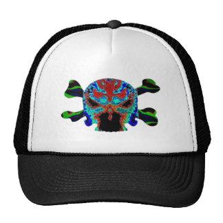 8 Colorful Skulls - ART101 Halloween Collection Mesh Hat