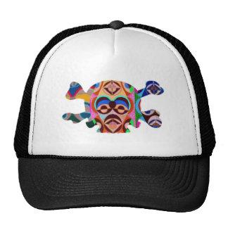 8 Colorful Skulls - ART101 Halloween Collection Mesh Hats