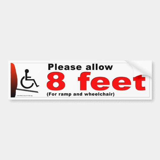 8 Feet Bumper Sticker