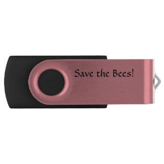 8 GB USB Swivel Save the Bees Swivel USB 3.0 Flash Drive
