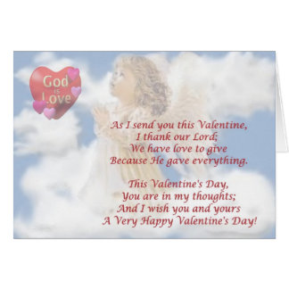 8. God Is Love - Religious Valentine Wish Design Card