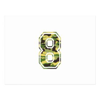#8 Green & Yellow Camo Postcard