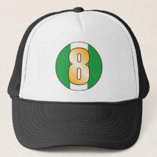 8 NIGERIA Gold Trucker Hat