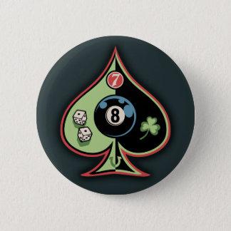 8 of Spades 6 Cm Round Badge