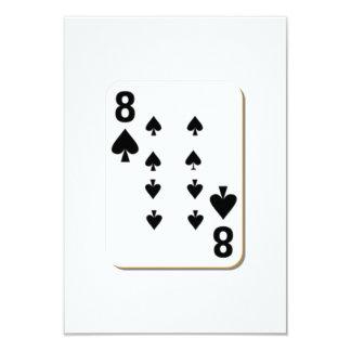 8 of Spades Playing Card 9 Cm X 13 Cm Invitation Card
