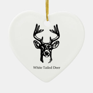 8 Point Buck White Tail Deer Christmas Ornament