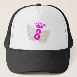 #8 Raspberry Wings Trucker Hat