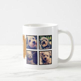 8 Square Photo Collage Instagram Frames Basic White Mug