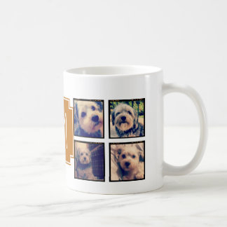 8 Square Photo Collage Instagram Frames Coffee Mug