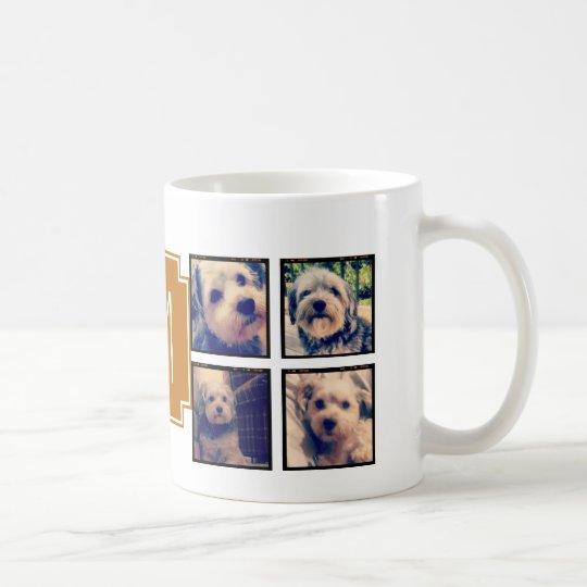 8 Square Photo Collage Instagram Frames Coffee Mug | Zazzle.co.uk
