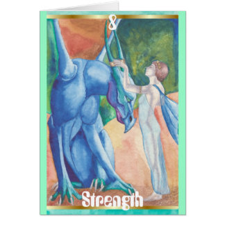 #8 Strength greeting card