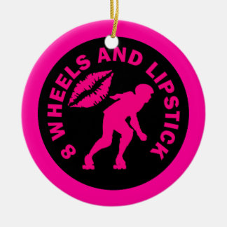 8 Wheels and Lipstick Christmas Ornament