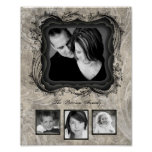 "8""x10"" 4 Slot Family Collage Montage Timeless Beau Posters"