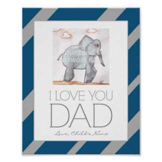 "8""x10"" Navy Stripe Dad Print  $8.65"