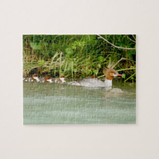 "8"" x 10"" Puzzle 110 pieces of duck and ducklings"