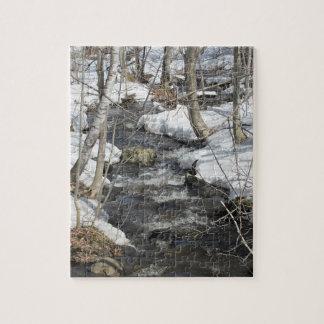 "8"" x 10"" Puzzle 110 Pieces Winter Brook Scene"