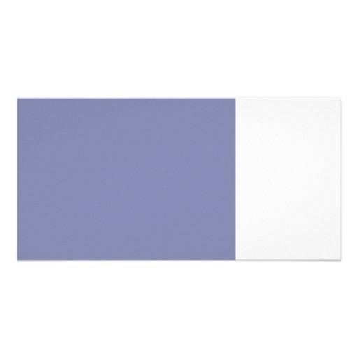 8 x 11 dark blue 50 lightness DIY custom product Photo Greeting Card