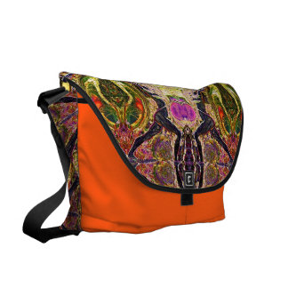 8 Yoga Warriors Messenger Bag by Deprise